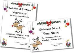 Printable Christmas Certificates Printable Christmas Certificates