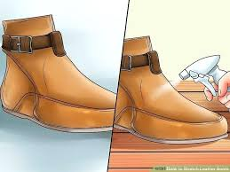steel toe boot stretcher image titled stretch leather boots step