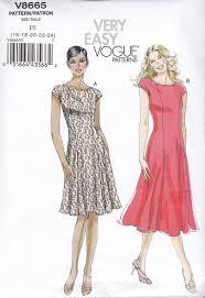 Vogue Dress Patterns Custom Vogue Sewing Pattern Misses Very Easy FLARED DRESS Size à 48 48 V448
