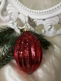 Details Zu Christbaumkugel Rot Weihnachtskugel Christbaumschmuck Shabby Vintage 15cm