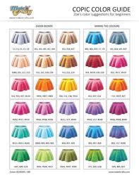 Copic Color Blending Chart Make It Crafty Store Zoes Copic Color Guide For Beginners