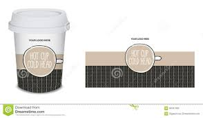 How To Design Paper Cup Paper Cup Mug Coffee Design In Vector Stock Vector