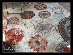home interior mohawk medallion rug home exploded medallions blue woven 5 ft x 7