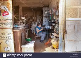 locksmith working. Hermoupolis February 8 Locksmith Working In His Workshop. Hermoupolis: 2018 Syros Greece
