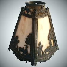 antique glass lamp shades canada slag shade miller 4 panel figures blue shad antique glass lamp shades