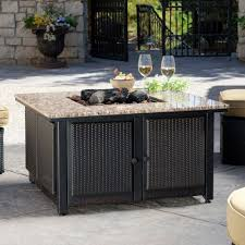 uniflame fire pit. Uniflame Fire Pit: Granite Table Propane Pit By C