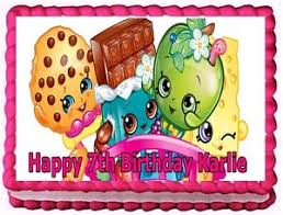Shopkins Edible Cake Topper Birthday Decorations Ebay
