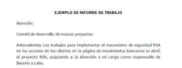 formato de informe en word ejemplo de informe de trabajo modelo de informe de trabajo
