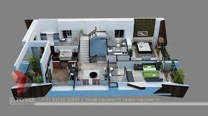 interior house plan. House Plan 3d Rendering Cut Section Desgin Interior