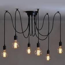 6 heads vintage edison ceiling lamp chandelier pendant light fixture
