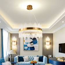 crystal round hanging ceiling lights