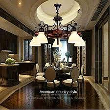 cottage style dining room chandeliers hcj retro rudder chandelier solid wood lamps restaurant chandelier
