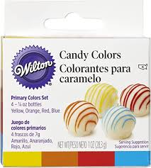 Wilton Candy Decorating Primary Colors Set, 1 oz ... - Amazon.com