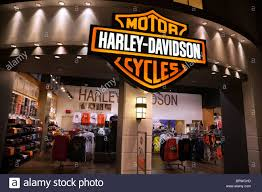 the harley davidson clothes store in las vegas usa stock photo