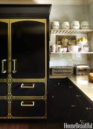 Kitchens with dark painted cabinets Cabinets Ideas House Beautiful 10 Black Kitchen Cabinet Ideas Black Cabinetry And Cupboards