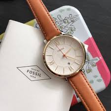 es3737 fossil jacqueline tan leather watch women s fashion watches on carou