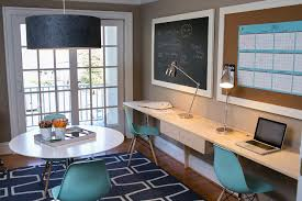 luxuriant chalkboard cork board combo in home office contemporary home decor blue home office ideas home office