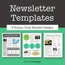 One Page Newsletter Templates Why No One Reads Your Classroom Newsletter