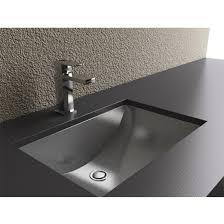 undermount vanity sinks. Bathroom Sinks Rectangular Shape With Curvilinear Basin Stainless Steel Undermount Sink Vanity V
