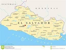 Mapa Político De El Salvador Ilustração do Vetor - Ilustração de américa,  geografia: 102849025