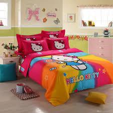 3d hello kitty bedding set children bed linen cartoon duvet cover set with bed sheet pillow case twin full queen size queen size comforter sets luxury