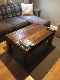 repurposed pallet vintage coffee table
