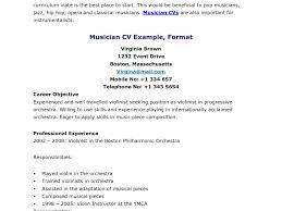 Music Resume Example Resume Job