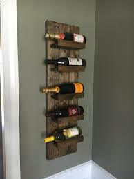 rustic wine rack spice rack wall mounted wine bottle holder