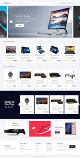 Free Ecommerce Website Templates Magnificent Shopio Free ECommerce Website Template UI EM Pinterest Free