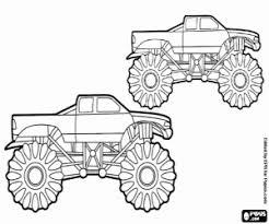 Uma Corrida De Monster Trucks Para Colorir E Imprimir