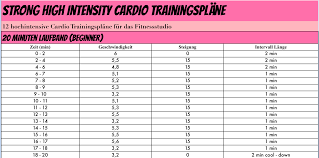 fettverbrennung trainingsplan