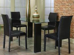 Modern Glass Kitchen Tables Kitchen 81 Small Modern Glass Dining Table With Lucite Bases And
