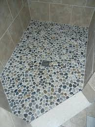 how to clean pebble stone shower floor crafty inspiration pebble stone shower floor design natural bathroom