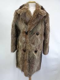 details about mint natural rac ra fur coat jacket men man size 40 medium