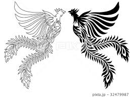 鳳凰のイラストのイラスト素材 32479987 Pixta