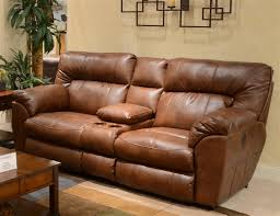 nolan leather power reclining console loveseat by catnapper 64049 larger photo