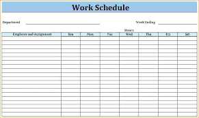 6 Week Work Schedule Template Related For 6 Blank Schedule Template Week Work Threestrands Co