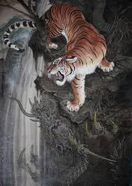 Tapety Malování Ilustrace Tygr Tetování Drak Velké Kočky Tim