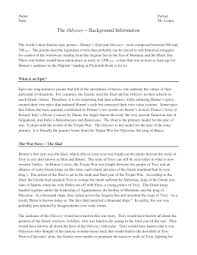 an introduction to the odyssey  guided notes the odyssey  background information