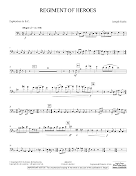 Regiment Of Heroes Windependence Artist Level Euphonium In Bass Clef By Joseph Turrin Concert Band Digital Sheet Music