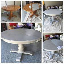 grey wash dining table. Grey Wash Pedestal Dining Table With Annie Sloan Chalk Paint! Paris A French Linen Wash! Gave New Life To An Old Table! U