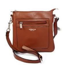 Coach Zip In Logo Small Brown Crossbody Bags CFP
