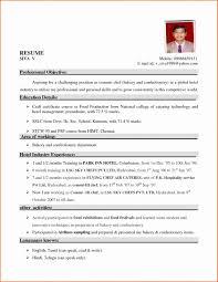 Resume Format For Hotel Job Fresh Endearing Hotel Job Resume With