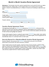 However this agreement template will only apply to properties in texas. Free Month To Month Rental Agreement Template