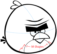 step 6 drawing terence from angry birds e in easy steps lesson