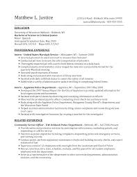 Criminal Justice Resume Objective Collection Of Solutions Criminal
