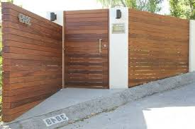 exterior wood fences. ipe wood fence landscape modern with stucco columns exterior fences e