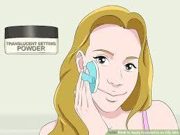 image led apply foundation on oily skin step 10
