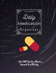 2 Years Large Print Medication Organizer Daily Med Pill