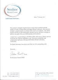 Letter Of Recommendation For A Dentist Reference Letter Smileline Dental Clinic Prodent Dental